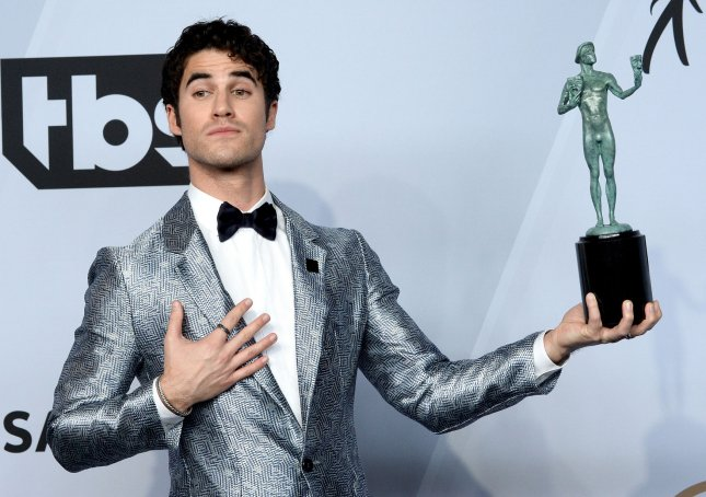 Actor Darren Criss will be a presenter at next weekend's Tony Awards ceremony in New York. File Photo by Jim Ruymen/UPI