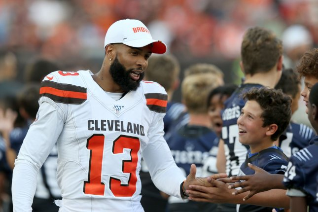 Cleveland Browns wide receiver Odell Beckham Jr. is one of my top fantasy football wide receivers for 2019. Photo by Aaron Josefczyk/UPI