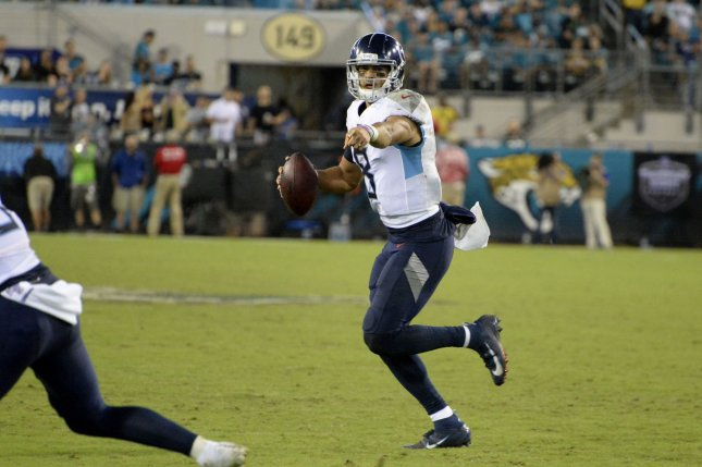 Marcus Mariota had a 29-32 record in five seasons as starting quarterback for the Tennessee Titans. File Photo by Joe Marino/UPI