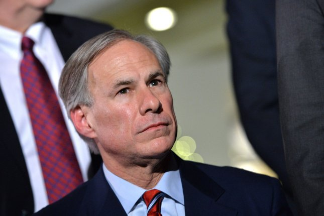 Texas Gov. Greg Abbott on Sunday announced that the U.S. Navy was deployed to assist hospitals in the state as it reported more than 10,000 new COVID-19 cases for five consecutive days. File Photo Kevin Dietsch