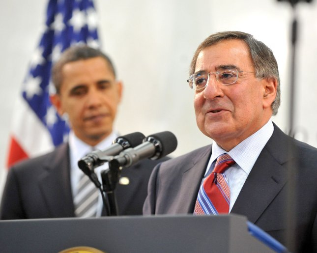 United States President Barack Obama is introduced by CIA Director Leon Panetta prior to making remarks at the George Bush Center for Intelligence (CIA Headquarters) in McLean, Virginia on Monday, April 20, 2009. (UPI Photo/Ron Sachs/Pool)