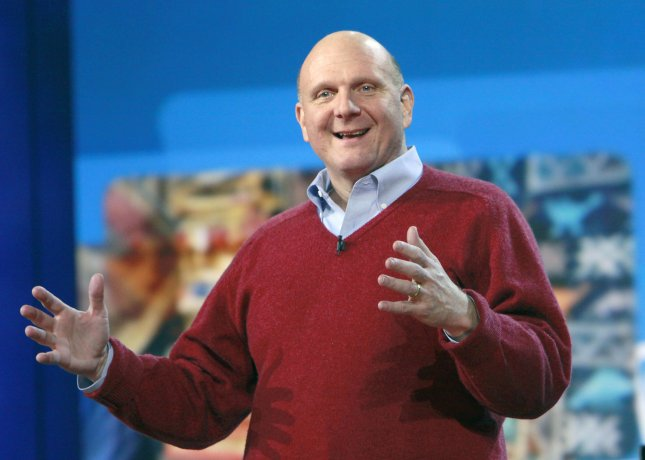 Microsoft CEO Steve Ballmer presents his pre-show keynote at the 2010 International Consumer Electronics Show (CES) in Las Vegas on January 6, 2010. UPI/CES