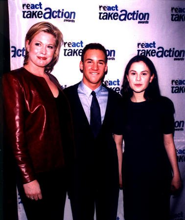 NYP99032993 - 30 MARCH 1999 - NEW YORK, NEW YORK, USA: React Magazine held a Take Action Awards Presentation event at the LeCirque 2000 in New York city, March 29. Pictured here are Take Action Celebrity presenters, Emme, E! Fashion Emergency Host and Revlon Spokesmodel, Ben Savage, ABC-TV's Boy Meets World star and Oscar Award winning actress Anna Paquin. wy/HO UPI