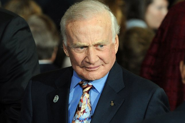 Former astronaut Buzz Aldrin delivered a plan to Congress on how to get to Mars. UPI/Roger L. Wollenberg