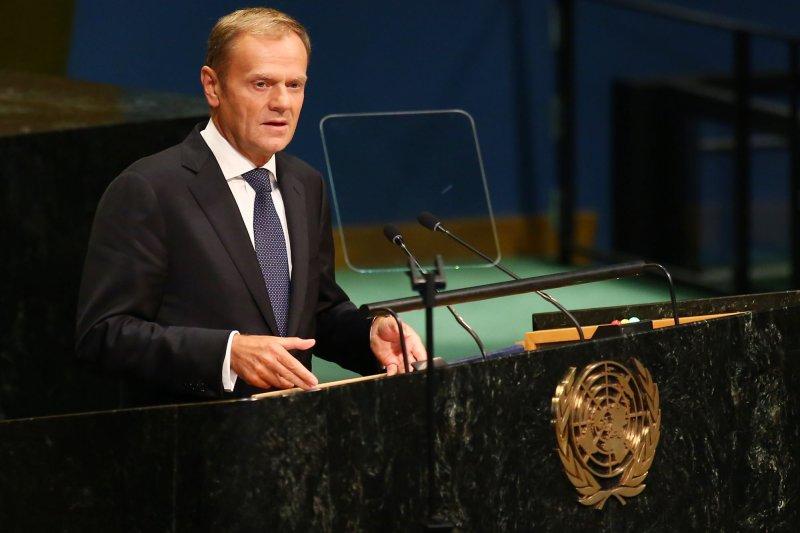 European Union Council President Donald Tusk said a second referendum should be held. File Photo by Monika Graff/UPI