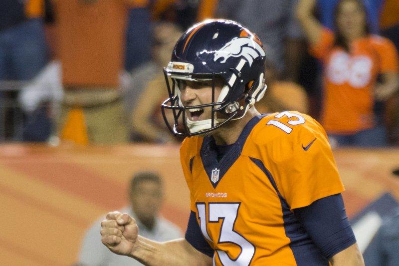 Denver Broncos quarterback Trevor Siemian. Photo by Gary C. Caskey/UPI