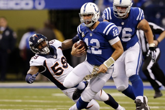 Indianapolis Colts quarterback Andrew Luck (12) was placed on the Active/Physically Unable to Perform list on Tuesday by the franchise. File photo by John Sommers II/UPI