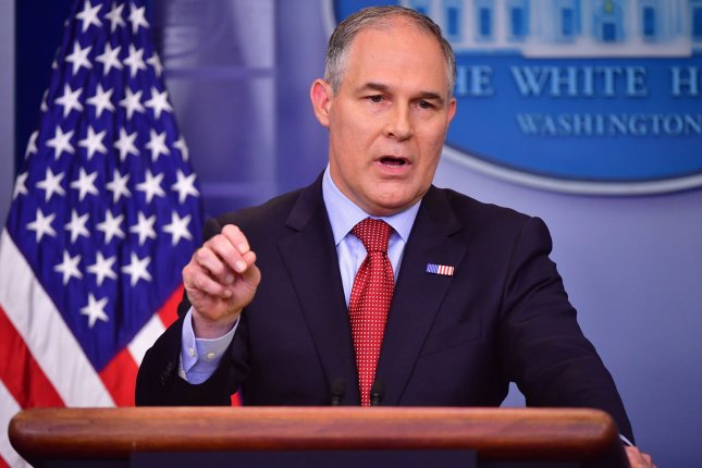 EPA Administrator Scott Pruitt speaks during the daily press briefing at the White House on June 2. On Tuesday, the Union of Concerned Scientists filed a lawsuit against Pruitt and the EPA over a directive to remove scientists from advisory panels. File Photo by Kevin Dietsch/UPI