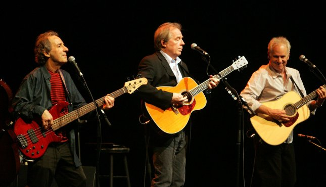 Harry Shearer (L), Michael McKean (C) and Christopher Guest perform on their Unwigged and Unplugged tour as Spinal Tap celebrates their 25th anniversary of the film, This is Spinal Tap, in Miami Beach on May 5, 2009. File Photo by Michael Bush/UPI