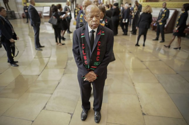 Rep. John Lewis, D-Ga., was diagnosed with Stage 4 pancreatic cancer, his office announced on Sunday. File Pool photo by Pablo Martinez Monsivais/UPI