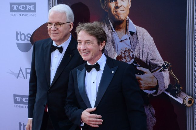 Steve Martin (L) and Martin Short will kick off a new leg of their Funniest Show in Town at the Moment tour in July. File Photo by Jim Ruymen/UPI