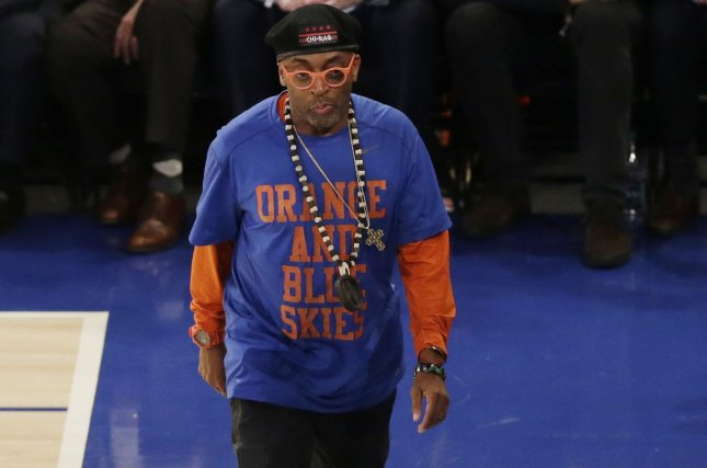 Director Spike Lee said he spends about $300,000 annually on his two New York Knicks season tickets. File Photo by John Angelillo/UPI
