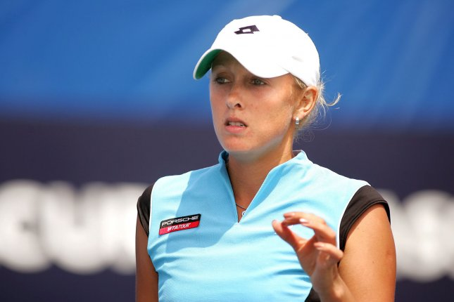 Anastassia Rodionova of Russia, currently 272nd ranked on WTA Tour, wins match with Samantha Stosur of Australia (6-3, 6-2) at Acura Classic women's tennis tournament, Carlsbad, California, USA on August 02, 2005. Major seeded players Maria Sharapova, Lindsay Davenport, and Serena Williams have withdrawn due to injuries. While Kim Clijsters and Svetlana Kuznetsova compete this week with finals on August 7, 2005. (UPI Photo/Tom Theobald)