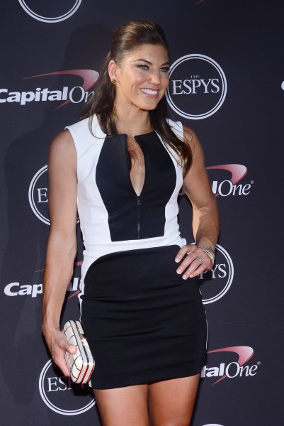 USA soccer player Hope Solo attends the 2013 ESPY Awards at the Nokia Theatre L.A. Live in Los Angeles on July 17, 2013. UPI/Jim Ruymen