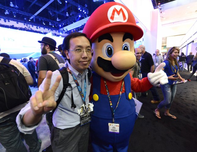 A profile for classic video game character and Nintendo mascot appeared on business networking site LinkedIn Tuesday. Photo by Phil McCarten/UPI