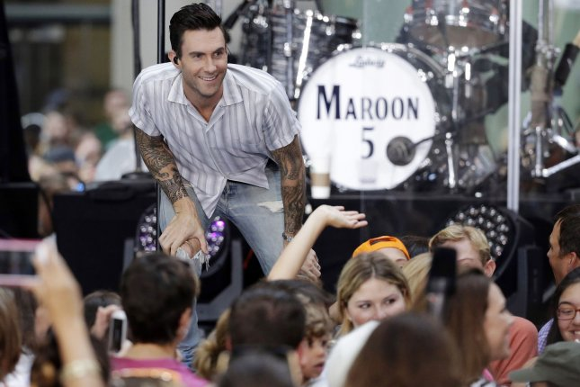 Adam Levine and Maroon 5 will not be performing in North Carolina following the recent passing of the HB2 legislation, the band announced Friday. File Photo by John Angelillo/UPI