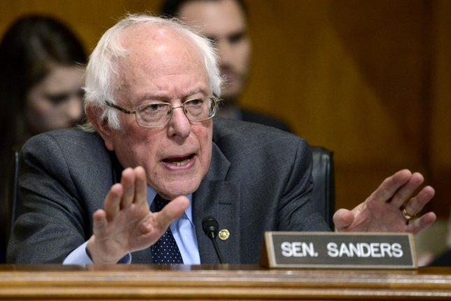 Sen. Bernie Sanders will introduce legislation Wednesday to implement a single-payer healthcare system called Medicare For All. File Photo by Mike Theiler/UPI
