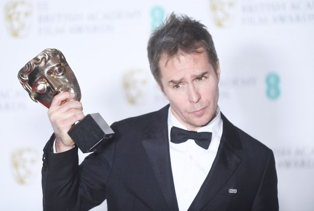 American actor Sam Rockwell attends the Winners Room at the British Academy Film Awards at the Royal Albert Hall in London on February 18. Photo by Rune Hellestad/UPI