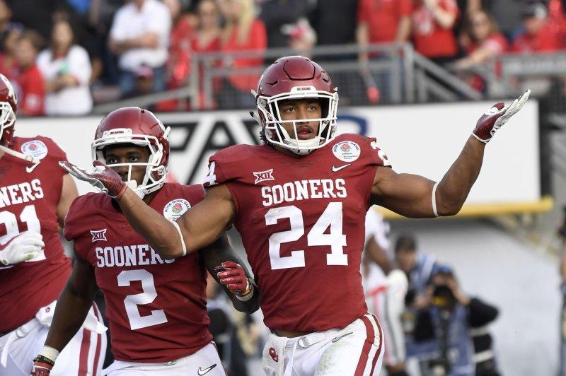 Rodney Anderson ran for 1,285 yards at the University of Oklahoma. File Photo by Jon SooHoo/UPI