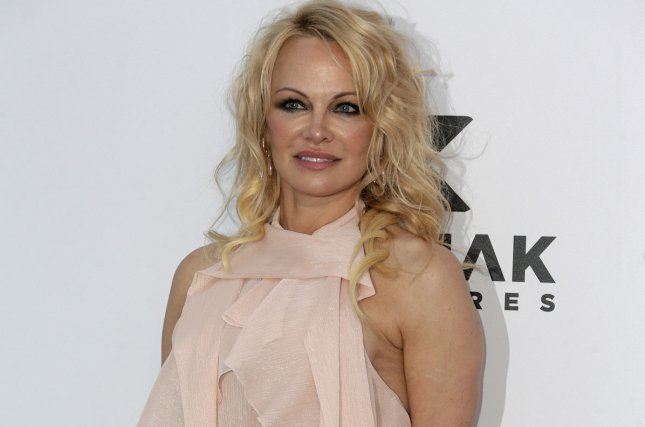 Model and actress Pamela Anderson said she has split from Jon Peters, the producer she married last month. File Photo by Sven Hoogerhuis/UPI