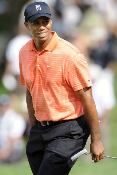 Tiger Woods walks up to the 15th hole during the first round of the AT&T National hosted by Tiger Woods at Congressional Country Club in Potomac, Maryland on July 2, 2009. (UPI Photo/Mark Goldman)
