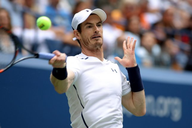Andy Murray of the United Kingdom returns the ball to Paolo Lorenzi of Italy in the first set of their third round match at the US Open Tennis Championships at the USTA Billie Jean King National Tennis Center in New York City on September 3, 2016. Photo by Monika Graff/UPI