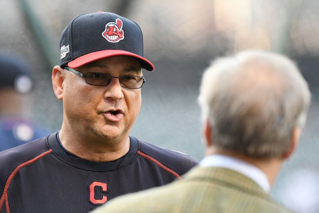 Cleveland Indians manager Terry Francona chats before the game 1 against the Boston Red Sox during the American League Division Series at Progressive Field in Cleveland, Ohio on October 6, 2016. Photo by Kyle Lanzer
