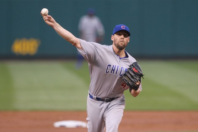 John Lackey pitched three innings of one-run ball for his first exhibition win as Chicago beat San Diego in Peoria, Ariz., 3-1. File Photo by Bill Greenblatt/UPI