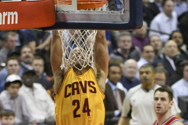 Former Cleveland Cavaliers forward Richard Jefferson (24) scores on a dunk against the Washington Wizards in the first half at the Verizon Center in Washington, D.C. on February 6, 2017. File photo by Mark Goldman/UPI