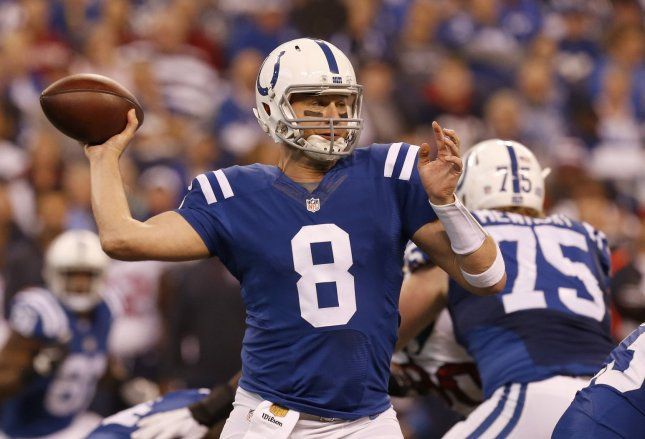 Former Indianapolis Colts quarterback Matt Hasselbeck, now a broadcaster, could soon be a voice on Monday Night Football. Photo by John Sommers II/UPI
