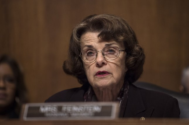 Sen. Dianne Feinstein of California is the senior Democrat on the Senate Judiciary Committee, which is debating how to handle families seeking asylum at the Mexico border. File Photo by Kevin Dietsch/UPI