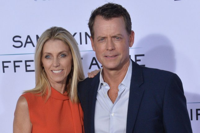 Greg Kinnear (R) with his wife Helen Labdon. The actor will be appearing on CBS All Access limited series, The Stand. File Photo by Jim Ruymen/UPI