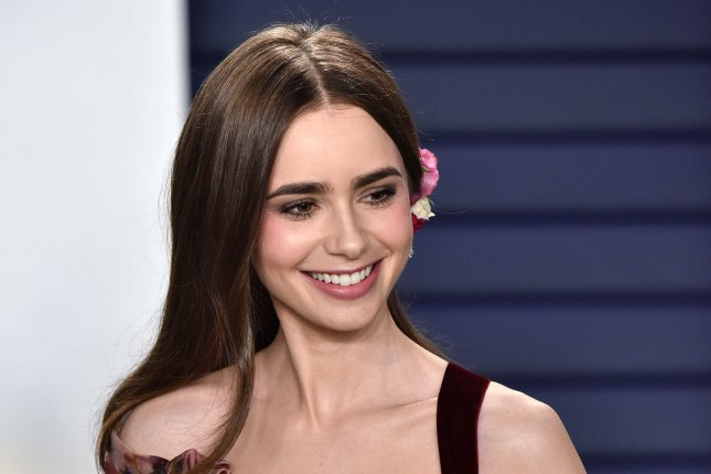 Lily Collins and the Emily in Paris cast have started filming the show's second season in France. File Photo by Christine Chew/UPI