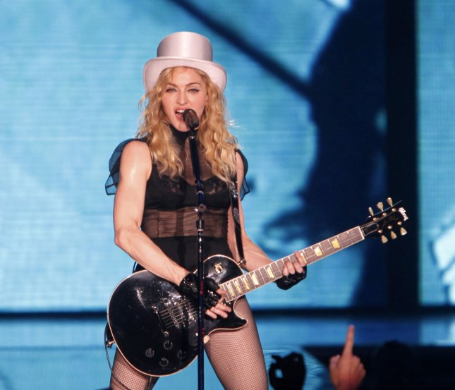 Madonna performs in concert at Bercy in Paris on July 9, 2009. (UPI Photo/David Silpa)