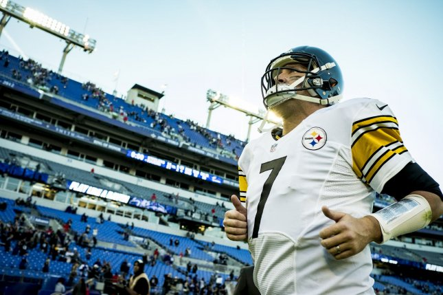 Pittsburgh Steelers' quaterback Ben Roethlisberger leaves the field following their game against the Baltimore Ravens at M&T Bank Stadium in Baltimore, Maryland on November 6, 2016. Baltimore won the game 21-14. Photo by Pete Marovich/UPI