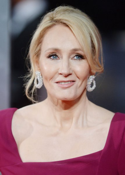 English author J.K. Rowling attends the 70th EE British Academy Film Awards in London on February 12. 2017 marks the 20th anniversary of her literary phenomenon, Harry Potter and the Sorcerer's Stone. File Photo by Paul Treadway/UPI