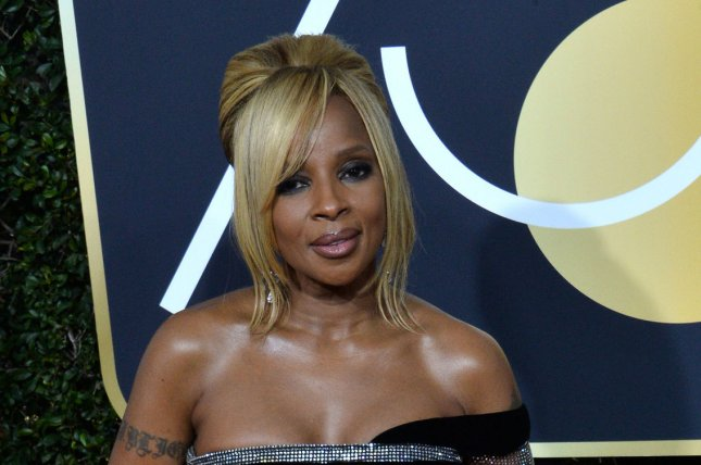 Mary J. Blige attends the 75th annual Golden Globe Awards at the Beverly Hilton Hotel in Beverly Hills, Calif., on Sunday. The singer and actor turns 47 on Thursday. Photo by Jim Ruymen/UPI