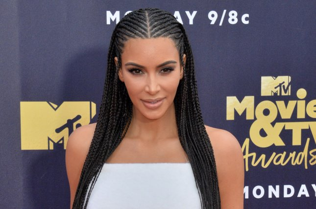 Kim Kardashian took North West to a beauty convention Sunday in Los Angeles. File Photo by Jim Ruymen/UPI