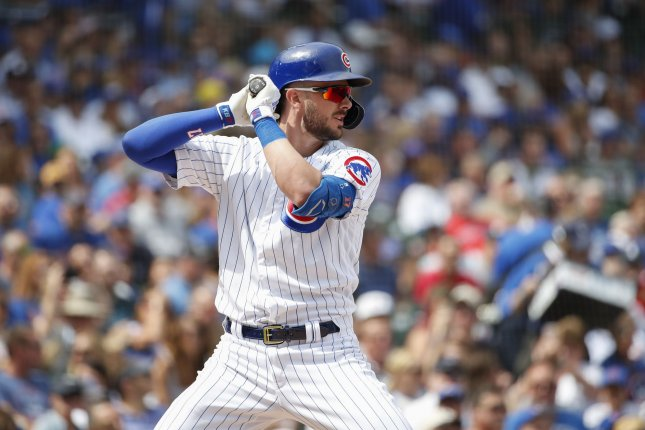 Chicago Cubs third baseman Kris Bryant is hitting .282 with 31 home runs and 77 RBIs this season. File Photo by Kamil Krzaczynski/UPI