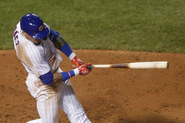 Chicago Cubs shortstop Javier Baez had two hits in a win over the Cleveland Indians Wednesday in Chicago. Photo by Kamil Krzaczynski/UPI