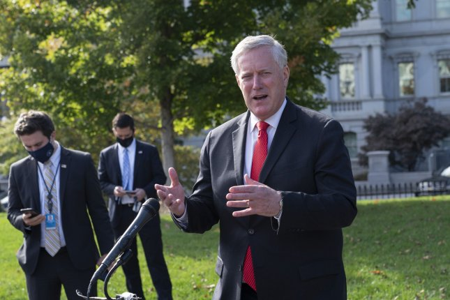 White House Chief of Staff Mark Meadows has tested positive for COVID-19. File Photo by Chris Kleponis/UPI