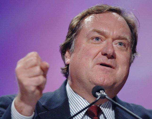 Meet the Press moderator Tim Russert, pictured in a file photo in Long Beach, California on September 26, 2006, died at the age 58 after collapsing from a heart attack at the NBC studio in Washington on June 13, 2008. (UPI Photo/Jim Ruymen/FILES)