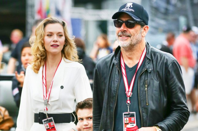 Hilarie Burton (L), pictured with Jeffrey Dean Morgan and son Augustus, reflected on her fertility struggles in a post Tuesday after welcoming a baby girl with the actor in February. File Photo by Mike Gentry/UPI