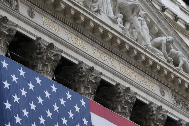 The three major U.S. indices bounced back with moderate gains Thursday, fueled by soaring tech stocks. Photo by John Angelillo/UPI