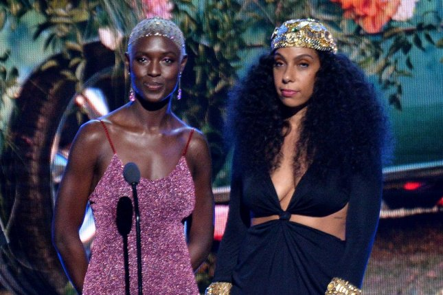 Jodie Turner-Smith (L), pictured with Melina Matsoukas, will play Éile in The Witcher: Blood Origin, a prequel series to Netflix's The Witcher. File Photo by Jim Ruymen/UPI