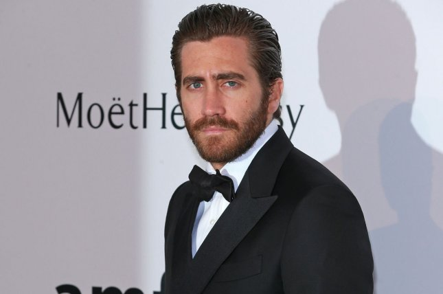 Jake Gyllenhaal arrives at the 22nd amfAR Cinema Against AIDS 2015 gala at the Hotel du Cap-Eden-Roc in Antibes, France on May 21, 2015. Gyllenhaal will appear in 'Everest,' the opening film for the 72nd annual Venice Film Festival this year. Photo by David Silpa/UPI