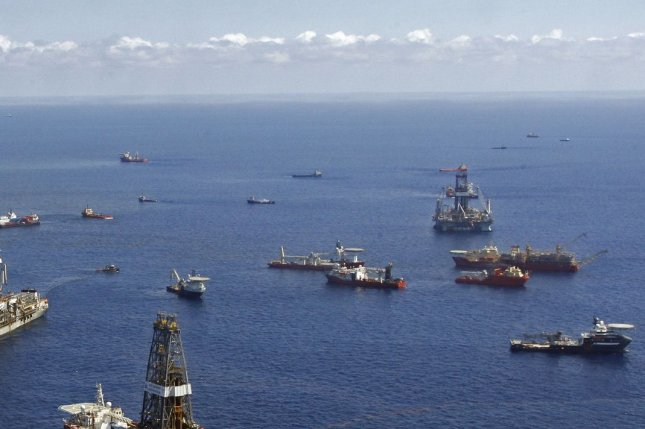 A region-wide lease for oil and gas development in the Gulf of Mexico draws mixed results even after the government changed the terms to attract more bidders. Photo courtesy of the U.S. Bureau of Ocean Energy Management. File photo by A.J. Sisco/UPI