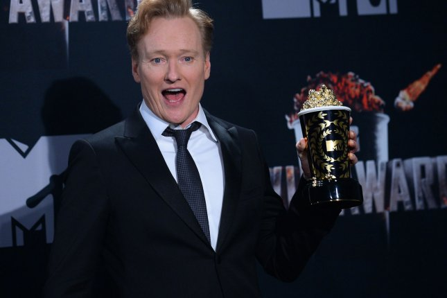 Conan O'Brien is scheduled to tape a week of shows at New York's Apollo Theater. File Photo by Jim Ruymen/UPI