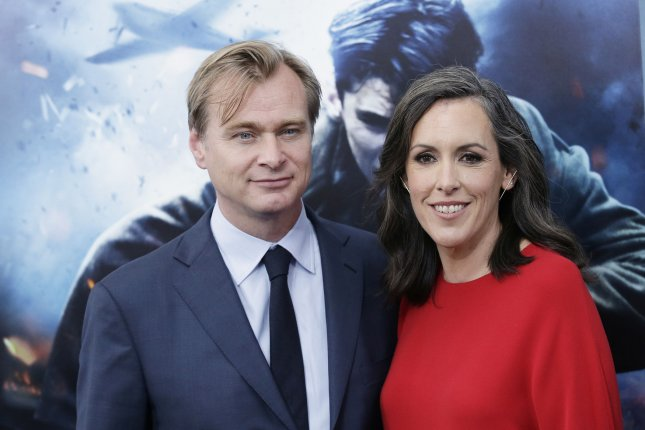Dunkirk director Christopher Nolan (L) pictured with his wife Emma Thomas. Dunkirk won awards alongside Game of Thrones at the 65th Golden Reel Awards. File Photo by John Angelillo/UPI