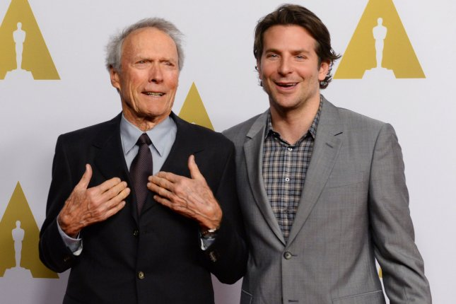 American Sniper collaborators Clint Eastwood and Bradley Cooper began work Monday on their new film The Mule. File Photo by Jim Ruymen/UPI